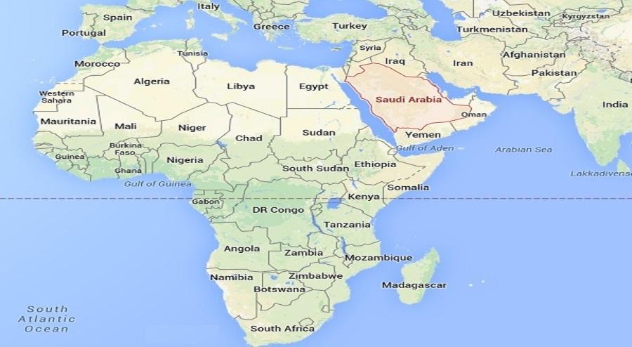 SAUDI ON THE MAP
